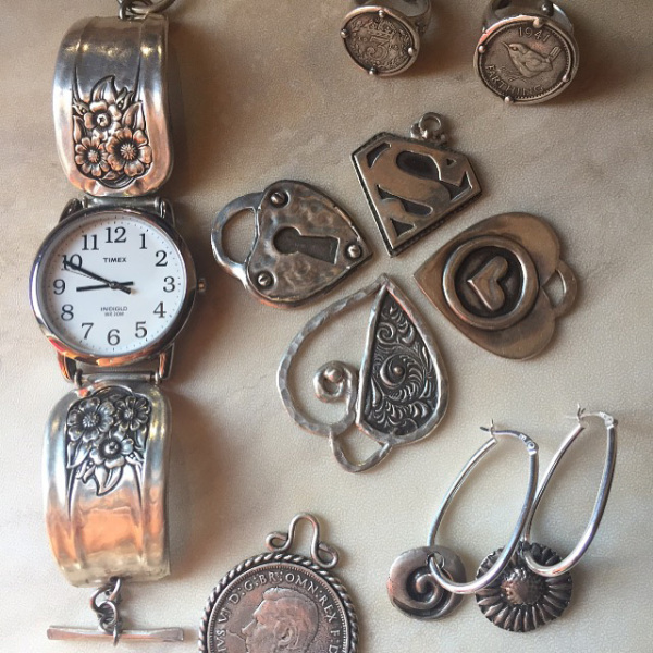 Collage - Watch, Pendants, Earrings
