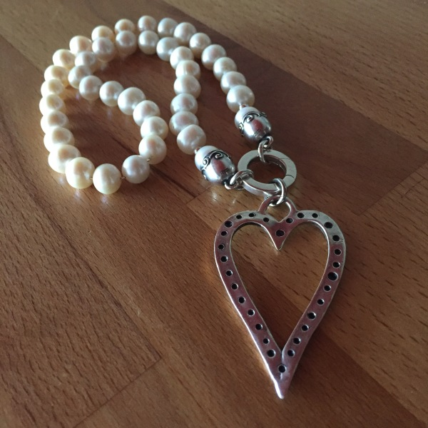 Heart on Silver Pearl