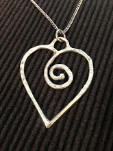 Heart with spiral pendant