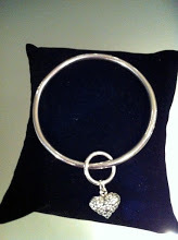 Bangle with Pebble Heart