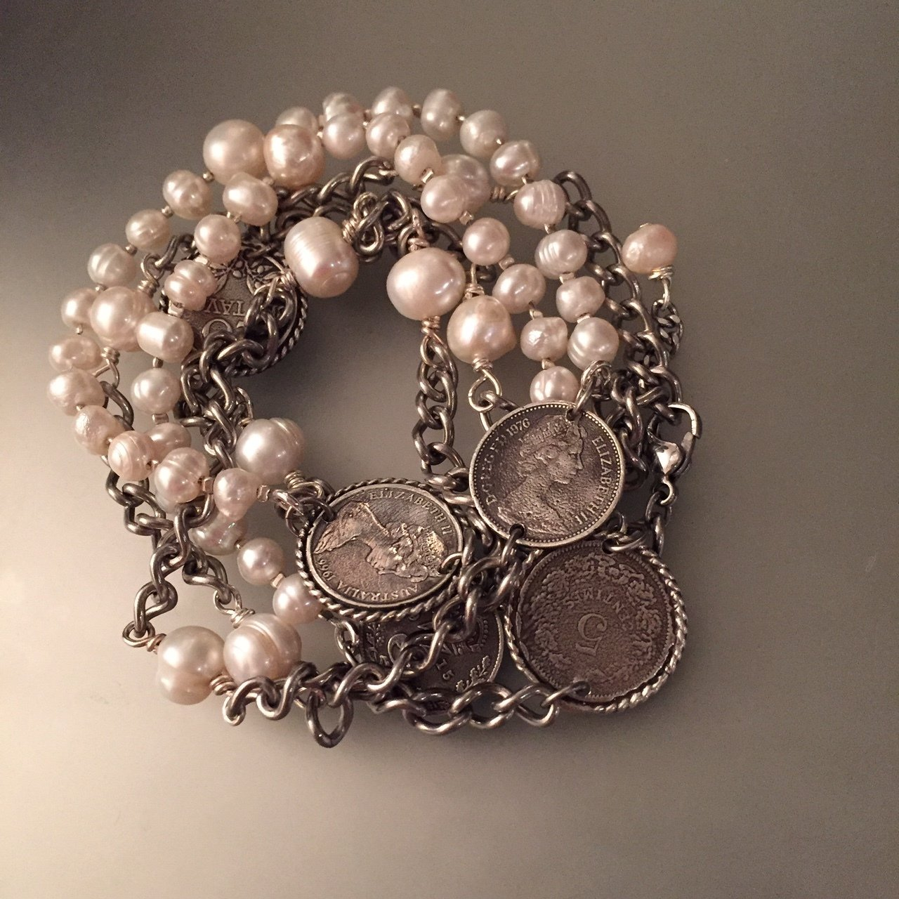 Pile of Pearls and Coins