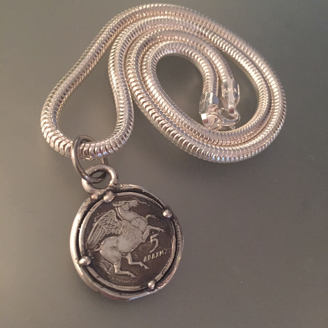 Pegasus on Rope Chain