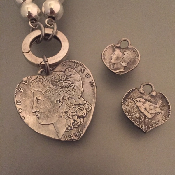 Lady Liberty Coin Pendants