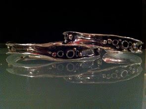 Wave and Pebble Bangles