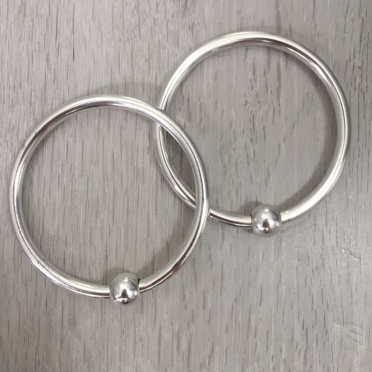 Seriously Chunky Solid Silver Bangles